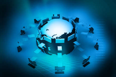 transferring: Data transferring  Stock Photo