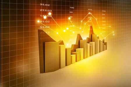 Stock Market Chart Foto de archivo