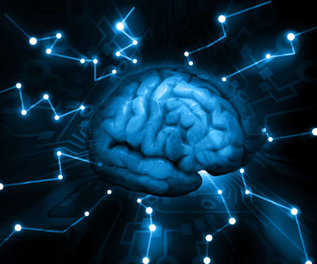 impulses: the concept of thinking  background with brain