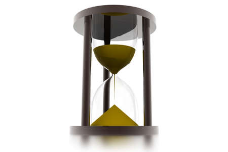 sand timer: hourglass, sandglass, sand timer, sand clock isolated on the white background 3d illustration