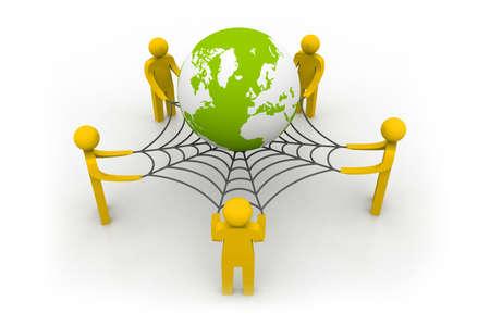 interpersonal: Social network concept, internet concept