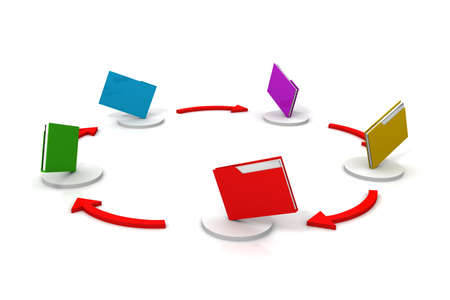 File sharing concept  3d image   photo