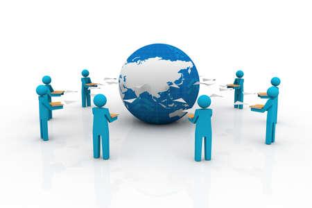 document management: Content Management Systeem in Bestandsdeling Kunst Mensen delen bestand