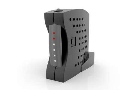 modem: Internet modem   Stock Photo