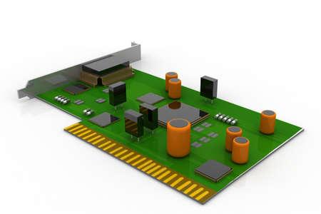circuitry: electronic circuit board  Stock Photo