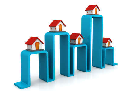 real estate graph Stock Photo - 19647293