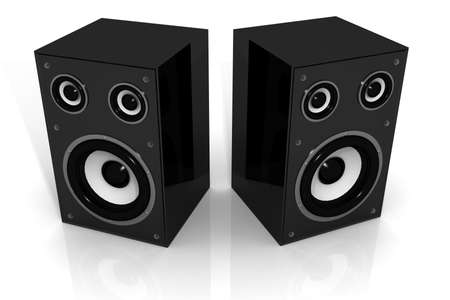 powe: Two audio speakers  3d, acoustic, analog, audio, background, bass, boom, case, concept, dance, design, digital, disco, electronic, energy, entertainment, equipment, icon, illustration, loud, loudspeaker, music, musical, objects, party, plastic, play, powe