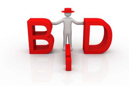 Bid  Business concept  Stock Photo