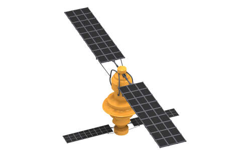 satellite  on isolated background photo