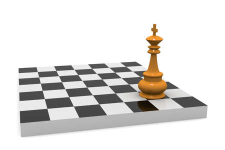 VICTORY  Chess board with king  photo