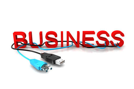 Business  text with cables  photo