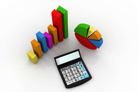 analogy:  calculator and graphs representing a business financial performance
