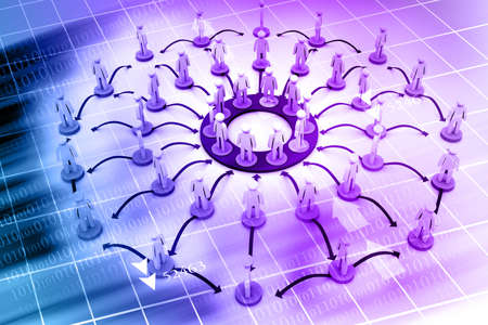 organised: Business Network on abstract background  Stock Photo