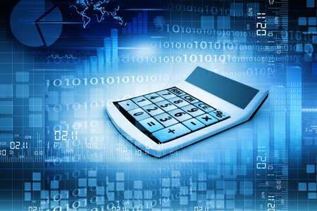 compute: Business calculation concept  Business background