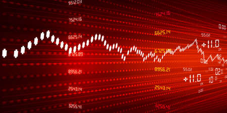 Stock Market Chart red background