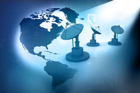 shortwave: satellite dish for telecommunications and world