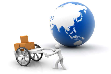 world wide commerce concept photo