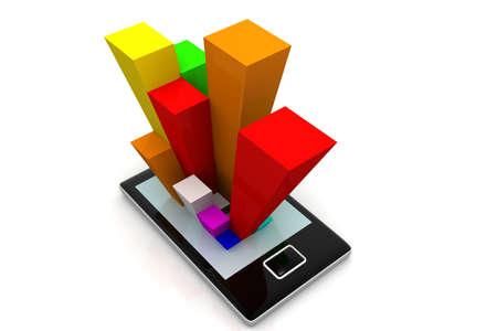 Smart phone et le concept de graphe Banque d'images