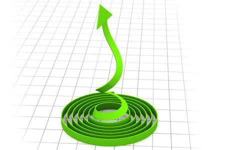 graficas de pastel: Flecha que muestra el crecimiento de negocios Foto de archivo