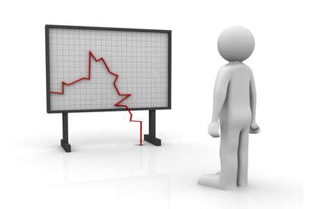 failure sign: Graph Chart watching   Stock Photo