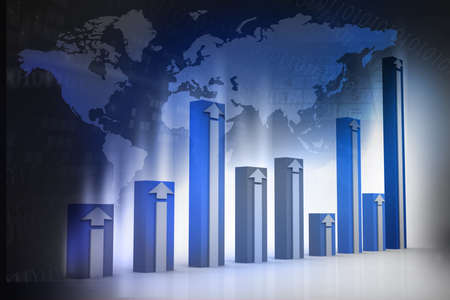 financial figures: Global financial charts and graphs illustration
