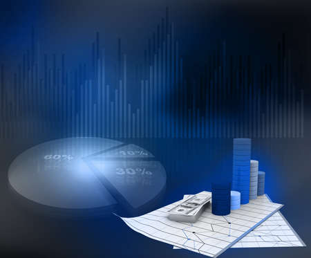 Business graph on abstract business background   photo