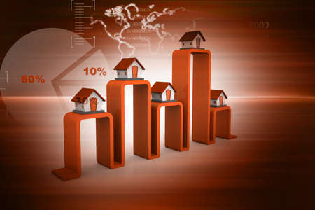 real estate graph on abstract background   photo