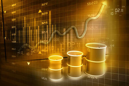 energy market: Increasing price of oil concept  Abstract background