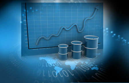 high price of oil: Increasing price of oil concept  Abstract background