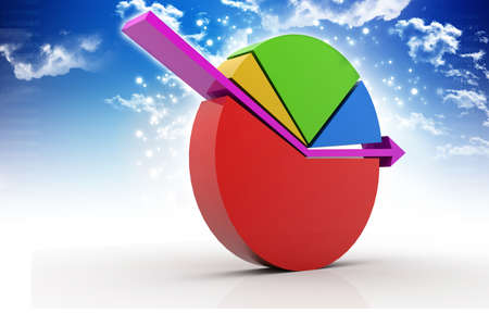 incorporate: business pie chart Stock Photo