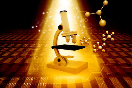 physics background: Medical or chemistry science background with microscope