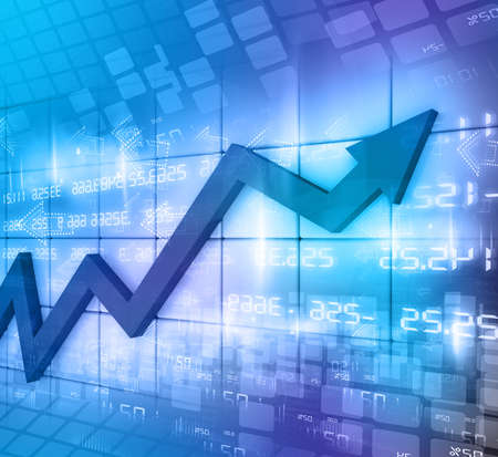 Business Arrow Graph abstract background