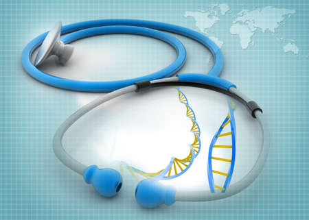 Stethoscope with DNA  photo