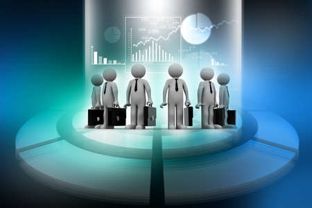 Group of business people on abstract business background  photo