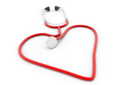 estetoscopio corazon: Coraz�n Estetoscopio Foto de archivo