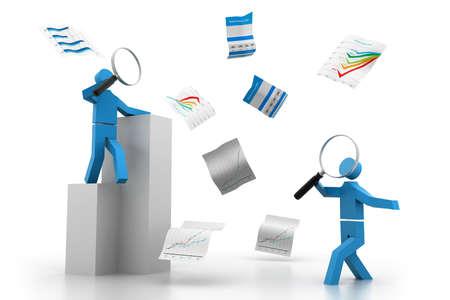 analyzing: Analyzing business documents Stock Photo