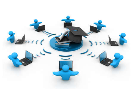 E-learning concept