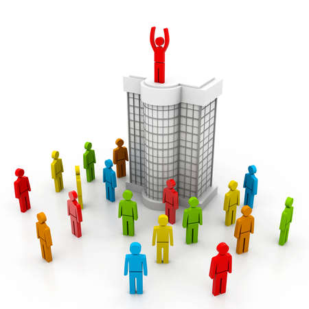 Business team with leader Stock Photo - 22877321