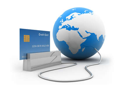 Online Credit Card Purchase Фото со стока
