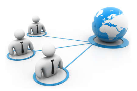 Global business network Stock Photo - 22956704