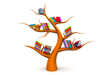guidebook: Tree of knowledge Stock Photo