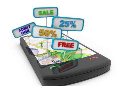 Smart phone street map offers