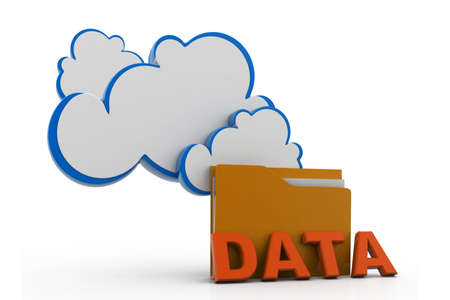 cloud and folder data storage photo