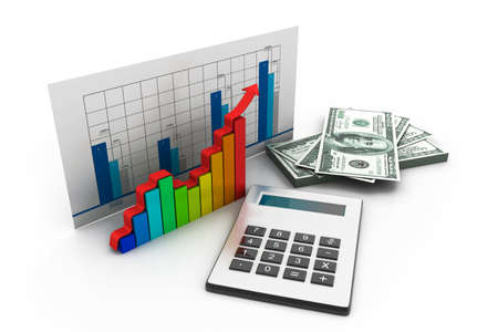 income market: Business graph Stock Photo