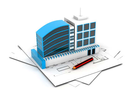 modern project of building Stock Photo - 23183026