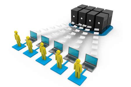e recruitment: Computer network