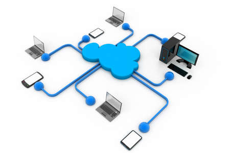 Cloud computing devices Stock Photo - 23183071