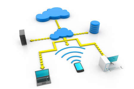 Cloud computing devices Stock Photo - 23183073