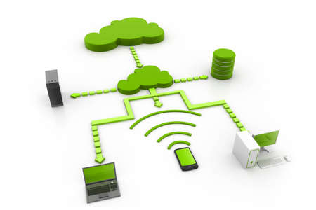 Cloud computing devices photo