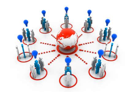 global village: Global Idea Network Stock Photo